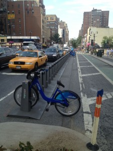 A broken Citi Bike