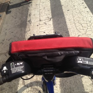 Computer Bag on Citi Bike