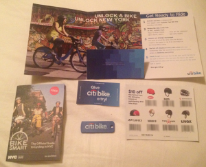 what you get in the citibike welcome package