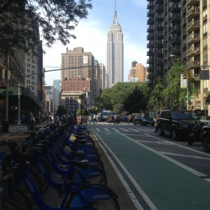 beautiful bike lanes in flatiron