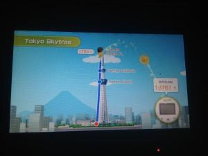 tokyo skytree on wii fit u
