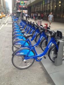 citi bikes at penn station