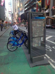 a miracle..a citi bike station with bikes
