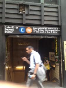 taking the subway