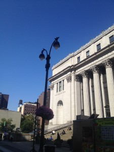 beautiful day over the 8th avenue post office
