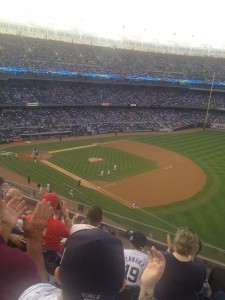 the yankees take the field