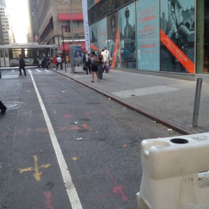 citi bike station at 49th and 5th gone