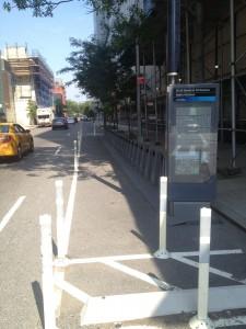 empty citi bike rack
