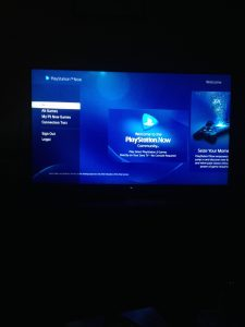 playstation now home page on bravia 4k tv