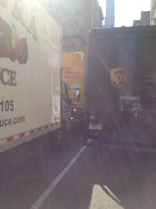 too many trucks