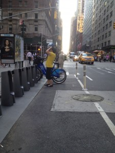 rude citibike woman