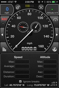 traditional speedometer on ios
