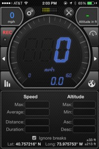 speedometer on iphone