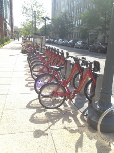 the morning bike station