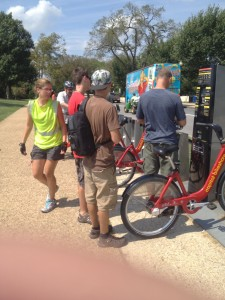 capital bikeshare lady ready to help