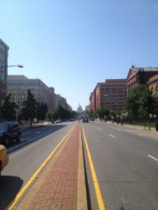 turning the corner to see the capitol