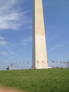 washington monument close up