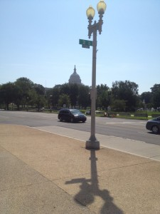 view from the capitol bike station