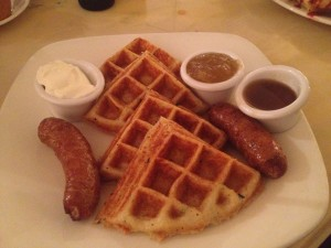potato waffles at sarabeth