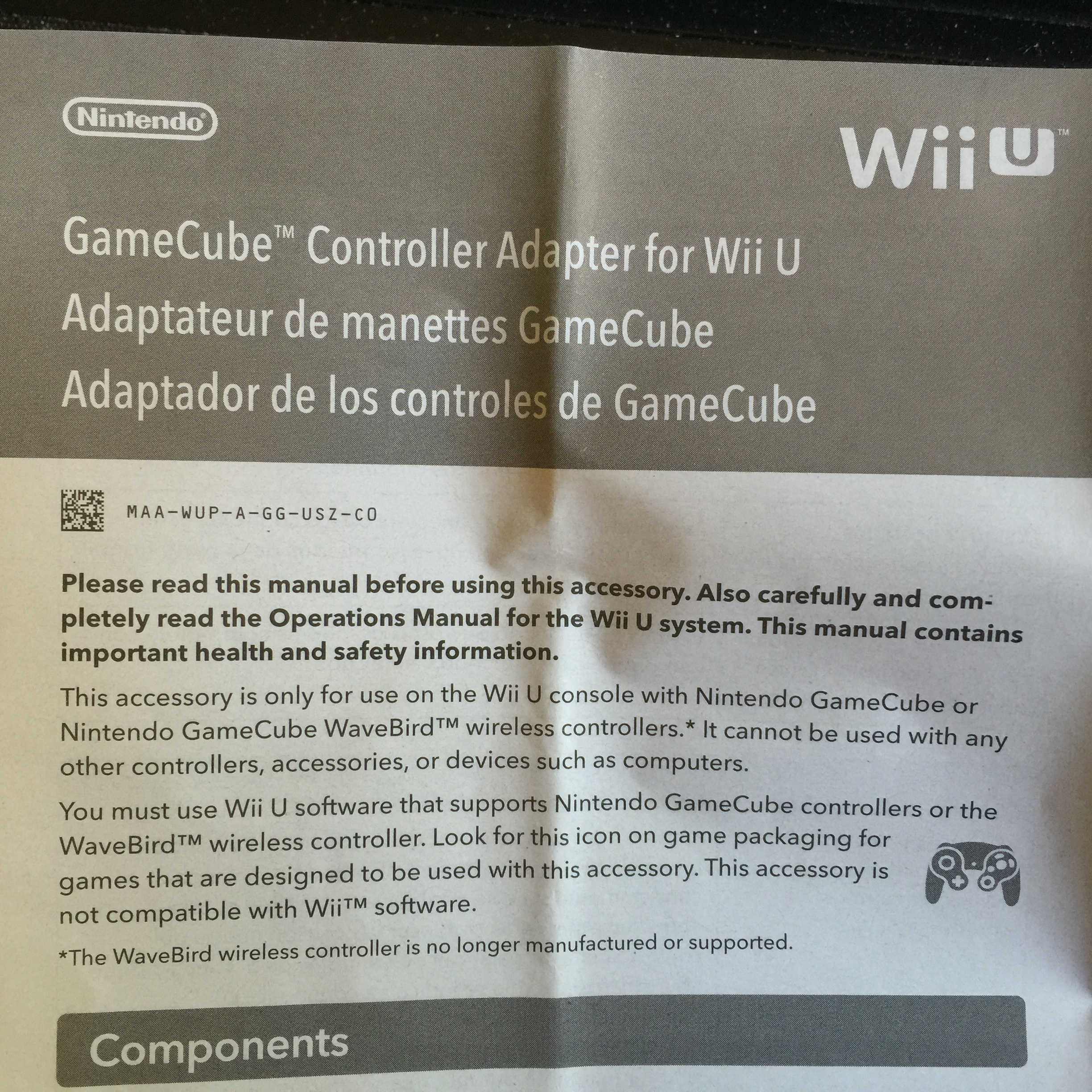 Confirmed The Wii U Gamecube Controller Adapter Will Not