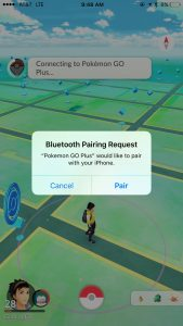 bluetooth pairing of pokemon go plus