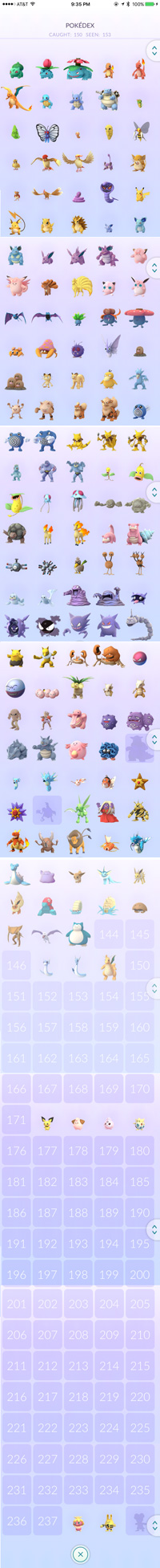 full north american pokedex