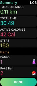 workout over on apple watch